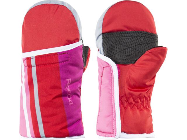 Roeckl Four Lapset Käsineet , vaaleanpunainen/punainen